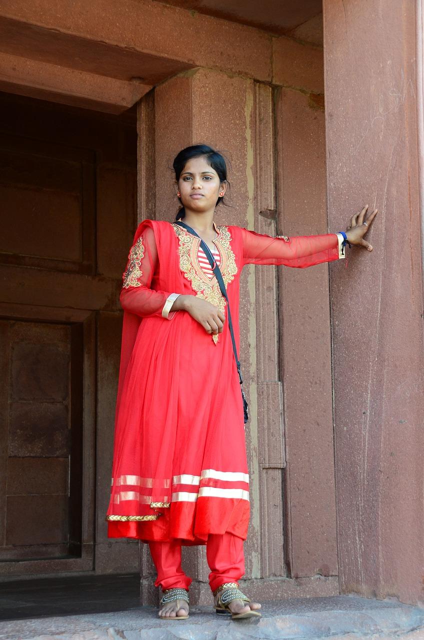 Indienne en sari - voyage en Inde