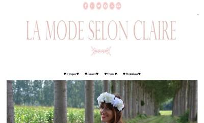 La Mode selon Claire