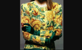 Veste tournesols Yves Saint Laurent